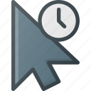 arrow, click, cursor, hold, mouse, pointer icon