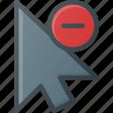 arrow, cursor, mouse, pointer, remove, selection