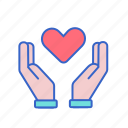 care, caring, compassionate, give, love icon