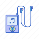 device, earphones, entertainment, ipod, melody, music, music note icon