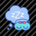 dreaming, eye mask, mask, rest, sleep, sleepy icon