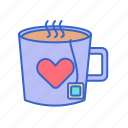 calm, calming, drink, hot tea, mug, peaceful, tea icon