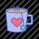 calm, calming, drink, hot tea, mug, peaceful, tea icon