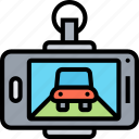 device, aftermarket, recording, safety, camera icon