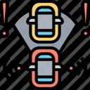 emergency, automated, braking, collision, alert