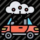 cloud, computing, car, driving, network