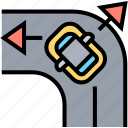 control, electronic, stability, curved, highway icon