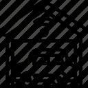 station, garage, center, automotive, data icon