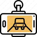camera, safety, recording, device, aftermarket icon