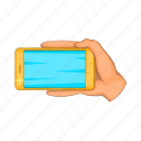 cartoon, mobile, phone, screen, selfie, sign, smartphone