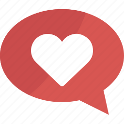 bubble, chat, comment, favorite, favorites, heart, like, love, message, speech, talk icon