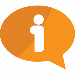 bubble, business, chat, communication, connection, help, message, online, orange, question, service, support, talk icon