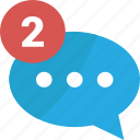 blue, bubble, business, chat, comment, comments, communication, connection, media, message, network, notifications, red, social, speech, talk, talks, web icon