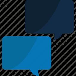 blue, bubble, bubbles, chat, comment, comments, communication, connection, message, network, social, speech, talk icon