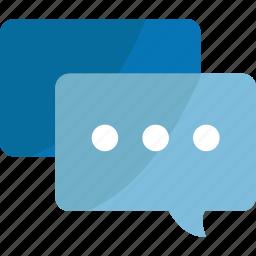 blue, bubble, bubbles, chat, chats, comment, comments, communication, connection, document, message, speech, talk, text icon