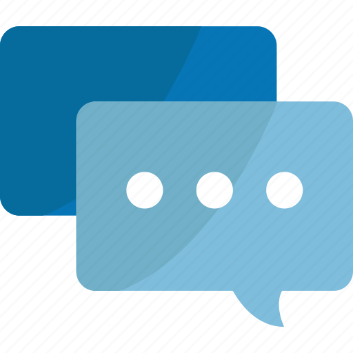 blue, bubble, bubbles, chat, chats, comment, comments, communication, connection, document, message, speech, talk, text icon
