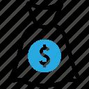 finance, money, bag, investments