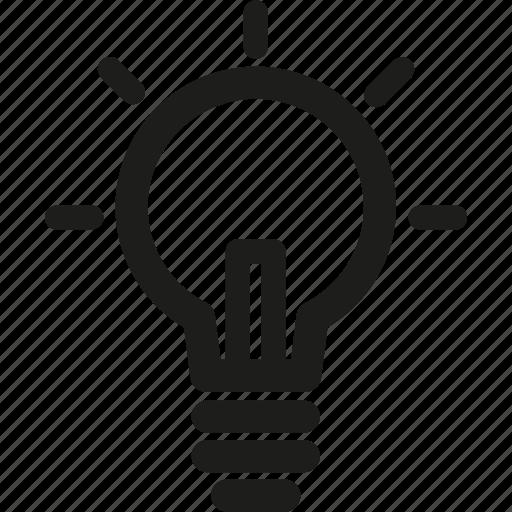 bulb, business, creative, idea, lamp, light icon