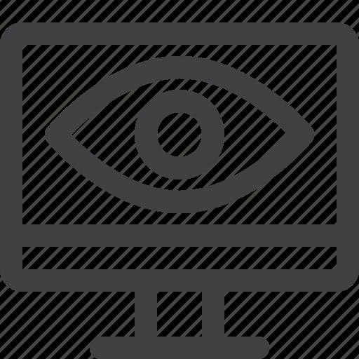 eye, monitor, screen, view icon