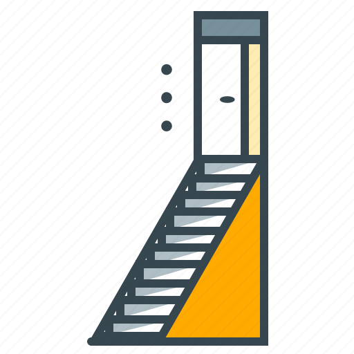 business, career, door, reach, seo, stairs, target icon