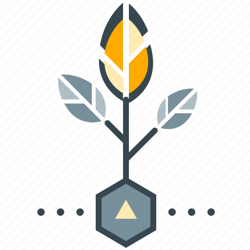 business, growth, leaves, plant, seo icon