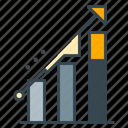 arrow, business, charts, growth, profit, seo, upwards icon