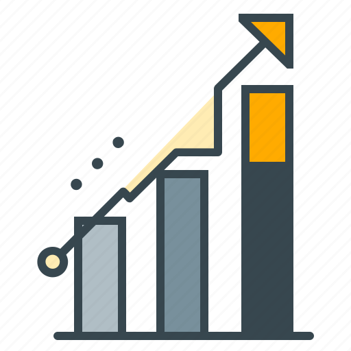 arrow, business, charts, growth, profit, seo, upwards icon