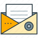 business, document, envelope, mail, open, seo icon
