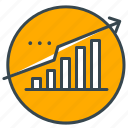 arrow, business, data, market, profit, seo, upward icon