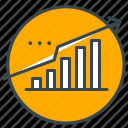 arrow, business, data, market, profit, seo, upward icon