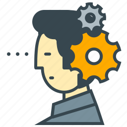 bolts, mind, person, process, seo, thinking, thought icon