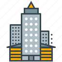 apartment, building, business, location, office, seo icon