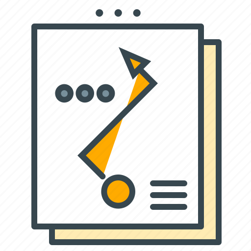 analyse, arrow, business, newsletter, paper, seo, statistics icon