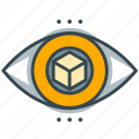 box, business, eye, seo, square, vision, visual icon