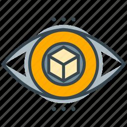 box, business, eye, seo, square, vision, visual icon