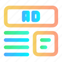 ad, ads, advertisement, advertising, marketing icon