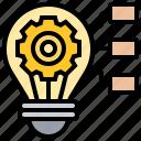 creative, diagram, idea, innovative, lightbulb icon
