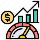 chart, indicator, page, performance, speed icon