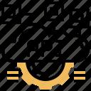 api, cloud, custom, interface, program icon