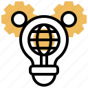 international, solutions, global, strategy, technology icon
