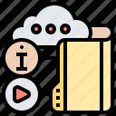 cloud, digital, files, information, storage
