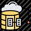 cloud, database, online, sever, storage