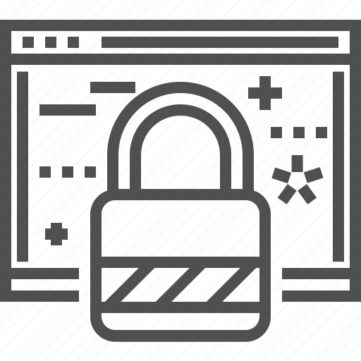 browser, firewall, lock, network, padlock, protection, seo icon