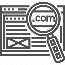 domain, find, search, seo, website, www icon, zoom icon