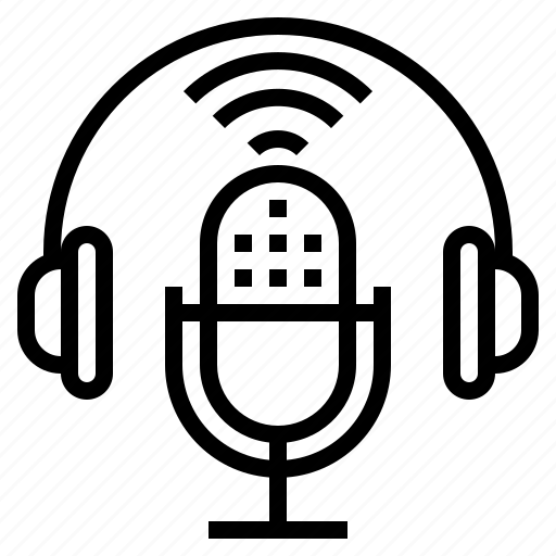 On Microphone Podcasting Mic Air Broadcasting Icon