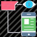 advertising, blog, chat, digital marketing, mobile application, vision icon