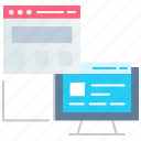 advertisement, content browsing, interface, seo, user interface, website icon