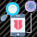 antivirus, detect virus, protection, scan virus, security, shield, virus protection icon