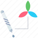 color picker, design, ink, logotype, marker, tools icon