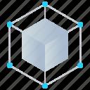 3d modeling, app development, cube, product development, software design icon
